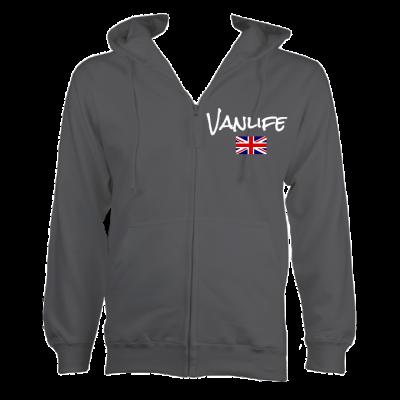 UK Vanlife Zipped Hoodie